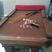 Triple Slate Pool Table