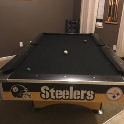 Steelers 8 ft Official Pool Table