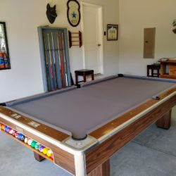 9FT Brunswick Pool Table- New Felt
